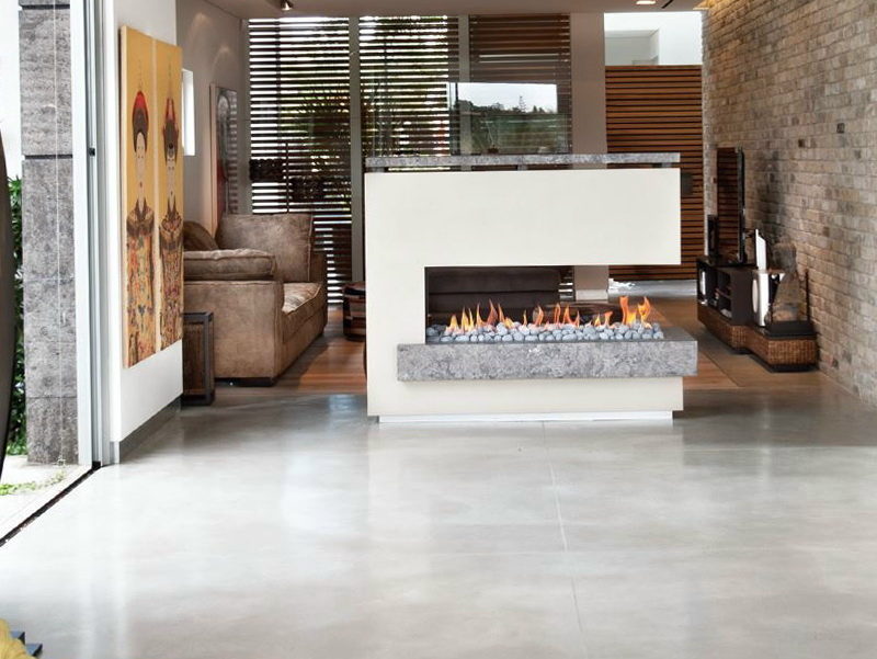 Three Sided Fireplace Gas Home Design Ideas