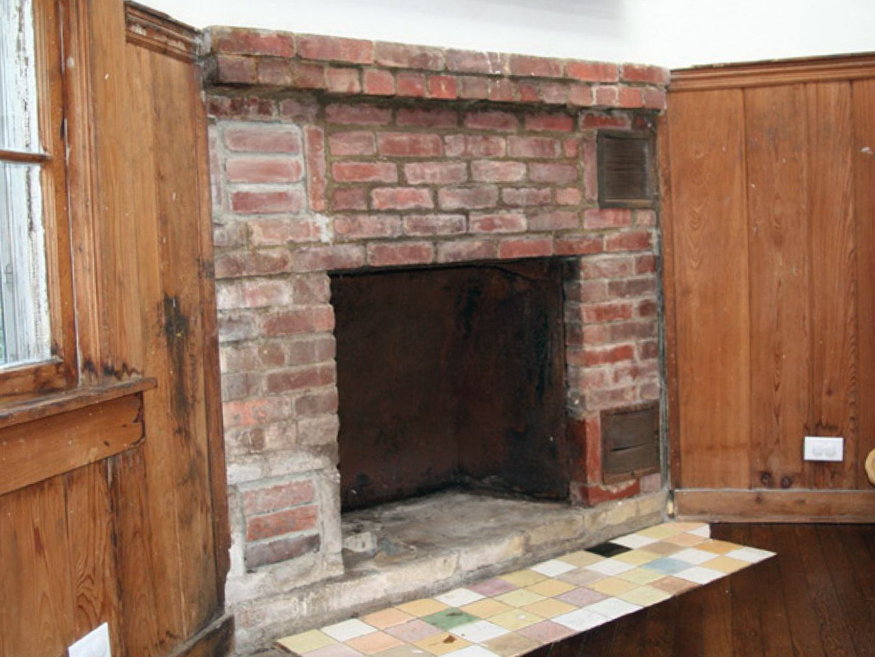 Stone And Brick Fireplace updating a brick fireplace with stone | home design ideas