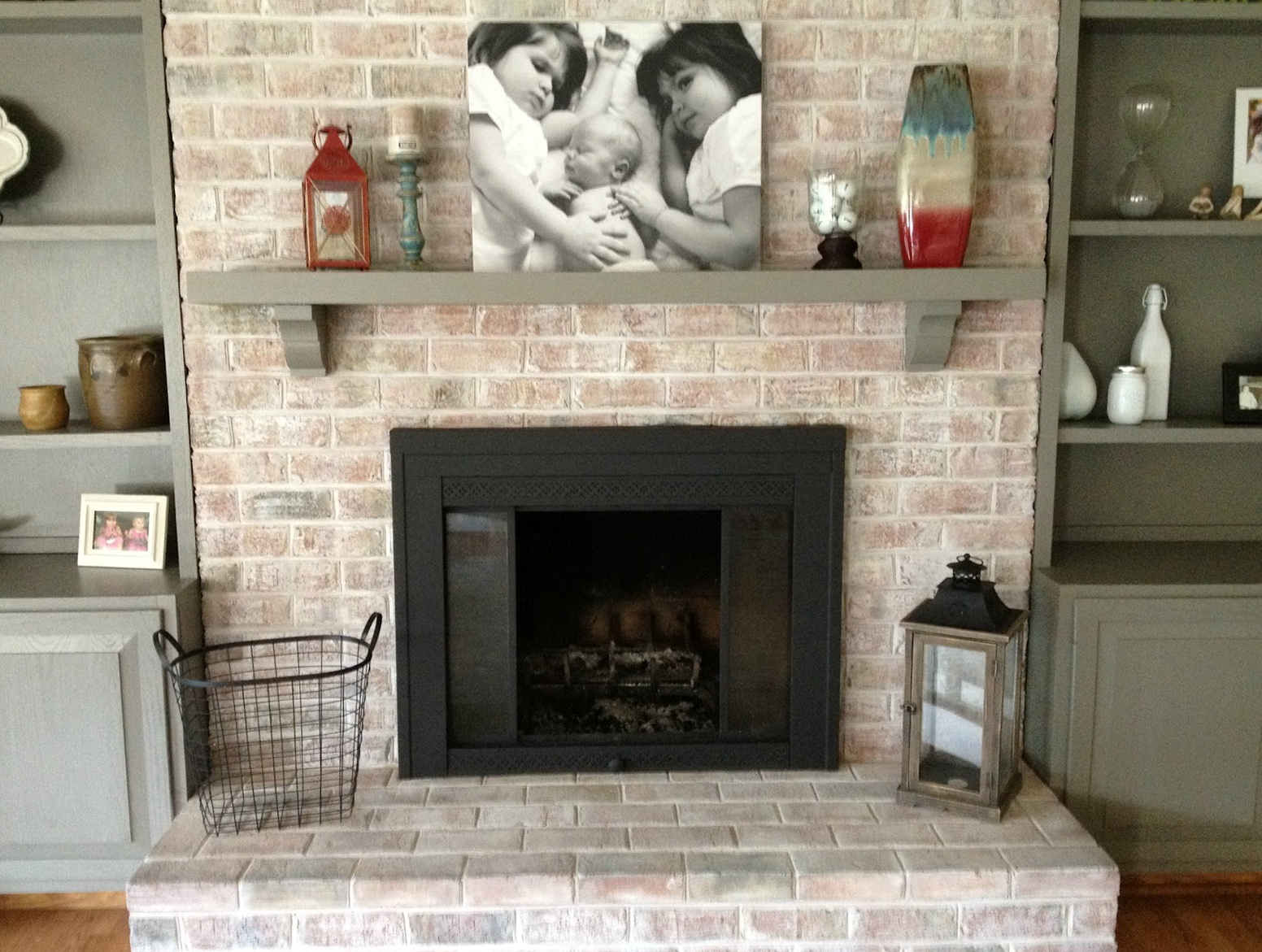 Updating A Brick Fireplace Home Design Ideas