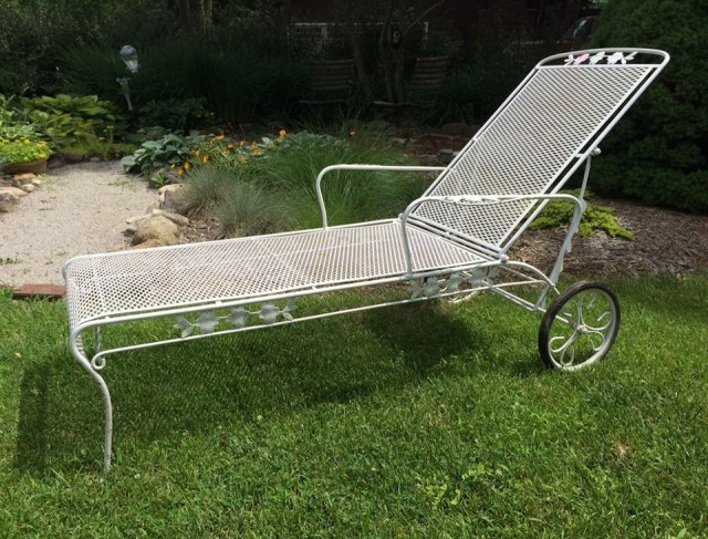 Wrought Iron Chaise Lounge Home Depot