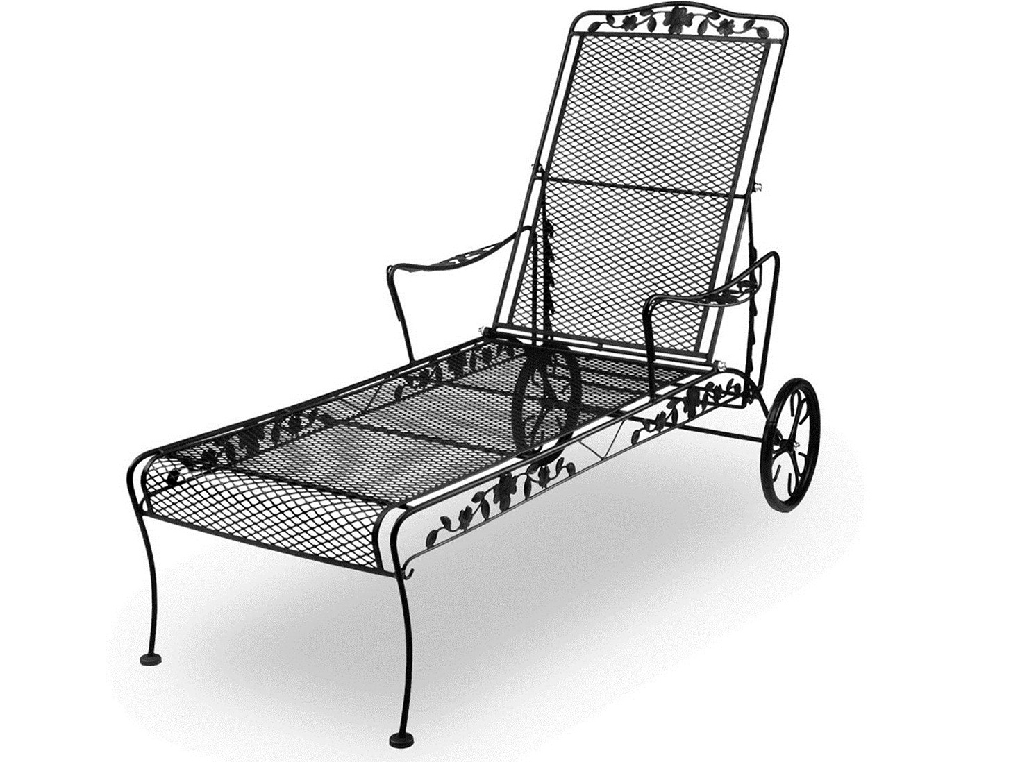 Wrought Iron Chaise Lounge Replacement Wheels Home