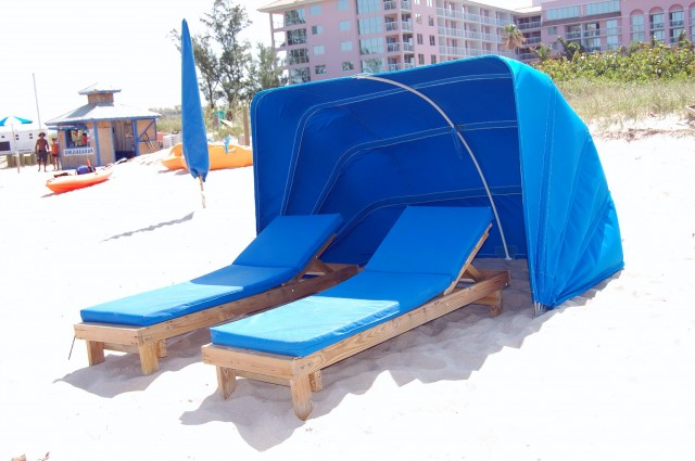 Beach Chaise Lounge With Canopy