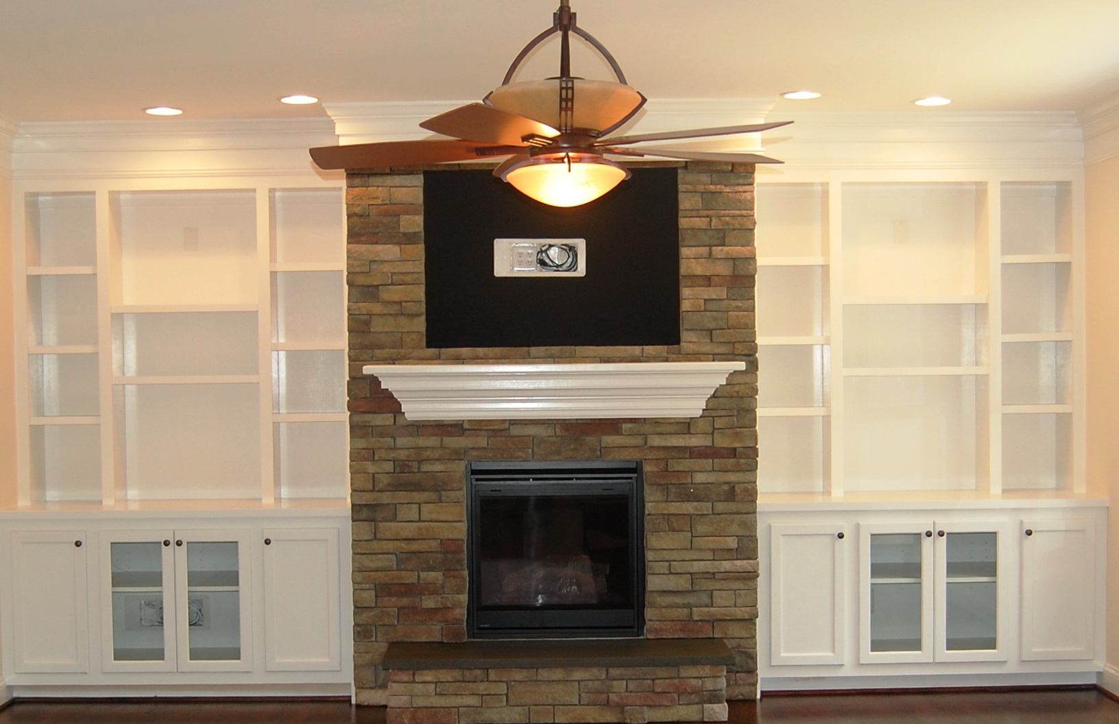 Built In Shelves Around Fireplace Cost | Home Design Ideas