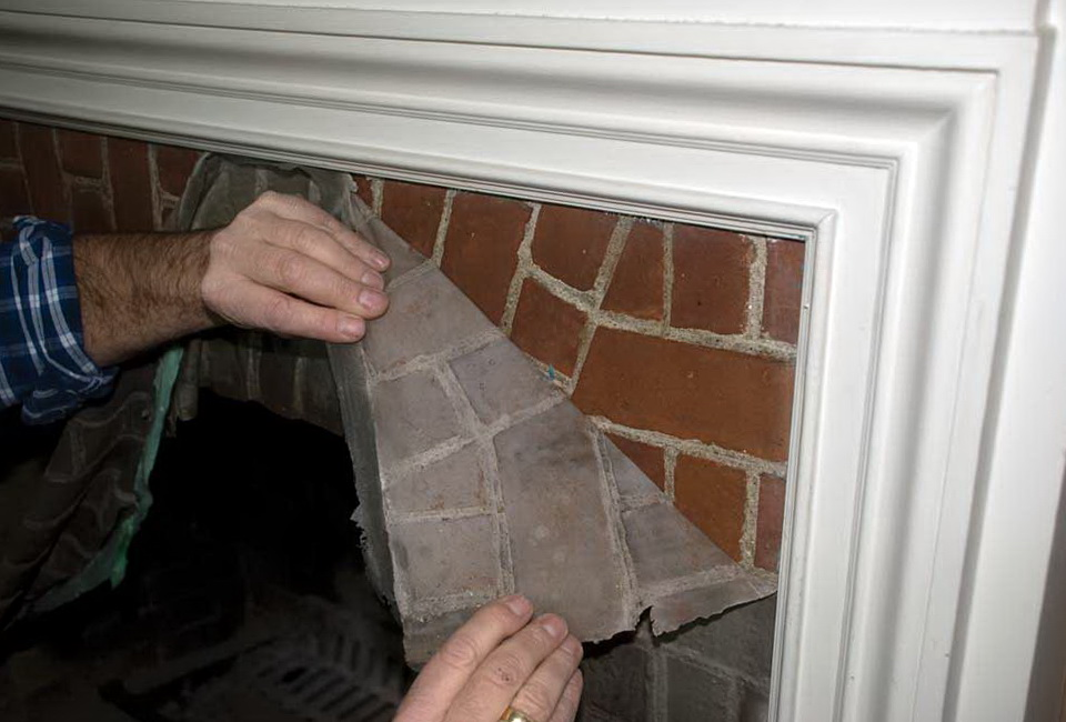 Cleaning Fireplace Brick With Vinegar Part - 25: Cleaning Brick Fireplace Before Painting