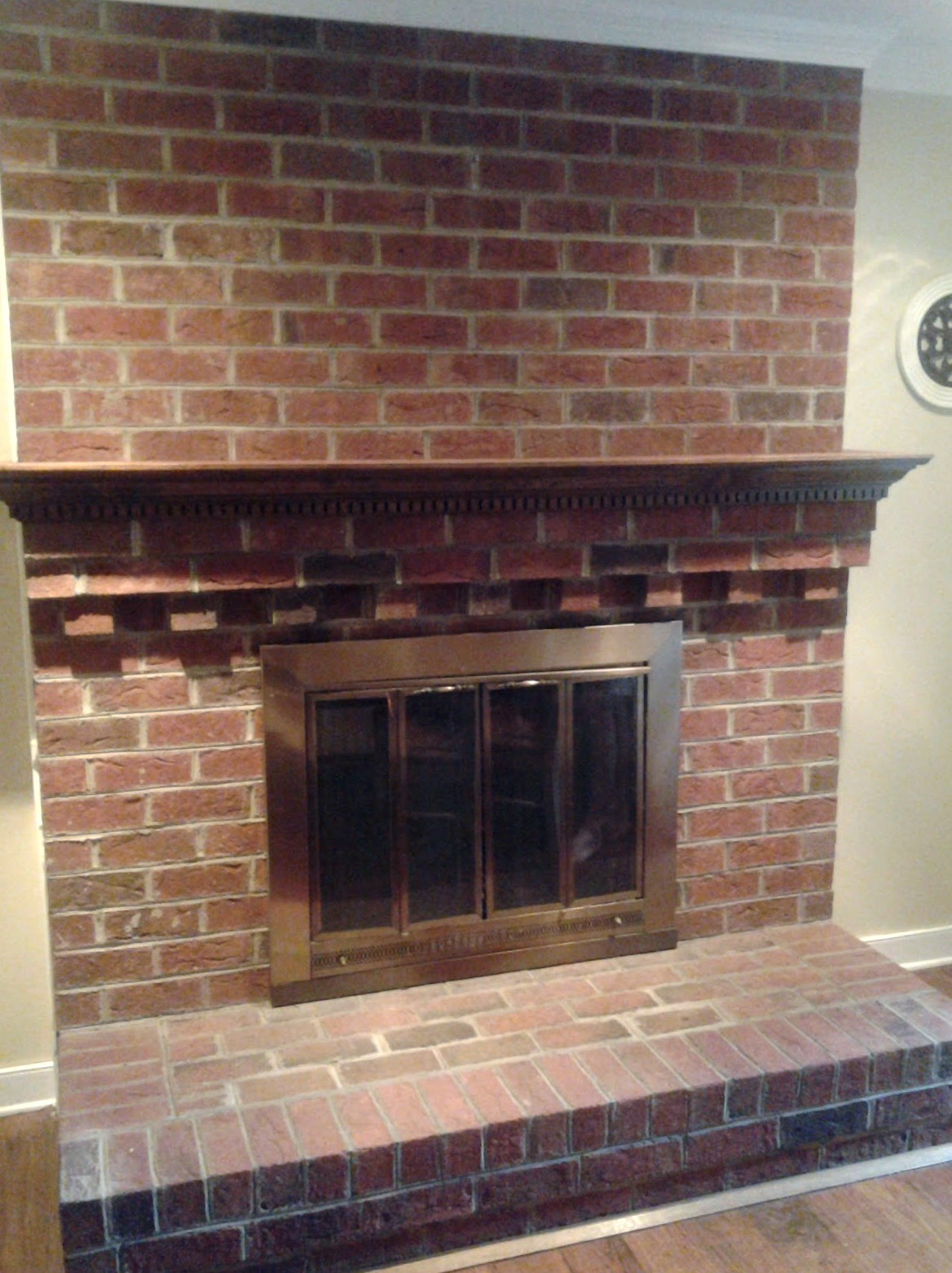 Cleaning Fireplace Brick With Vinegar Part - 30: Cleaning Brick Fireplace With Tsp
