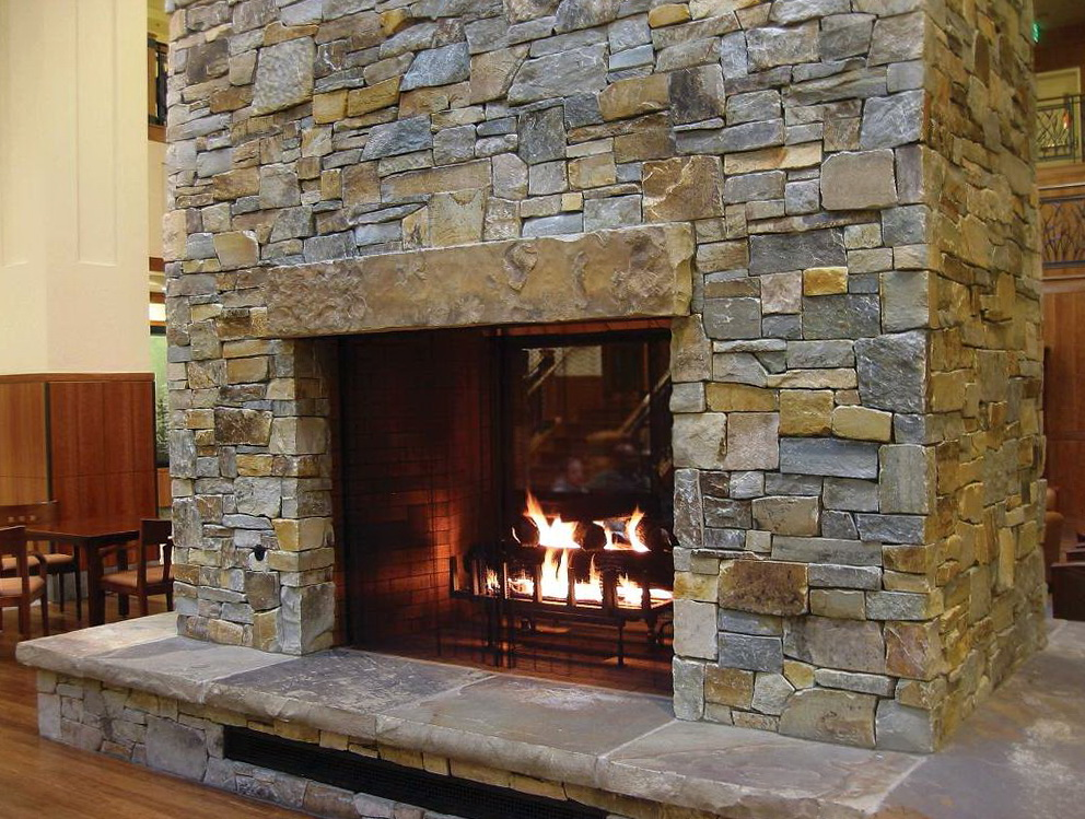 Dry Stack Outdoor Fireplace Home Design Ideas