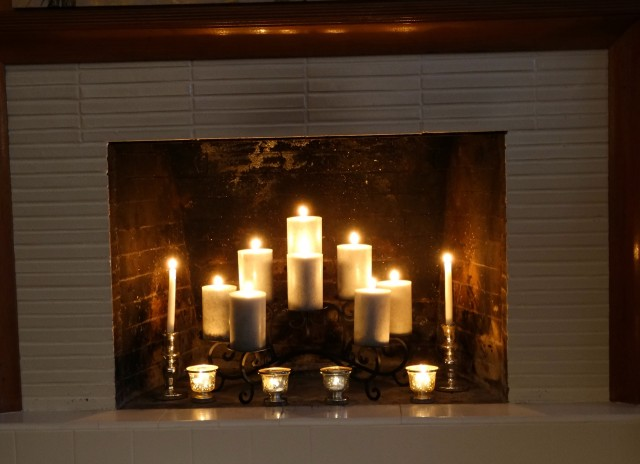 Tiered Candle Holder For Fireplace Home Design Ideas