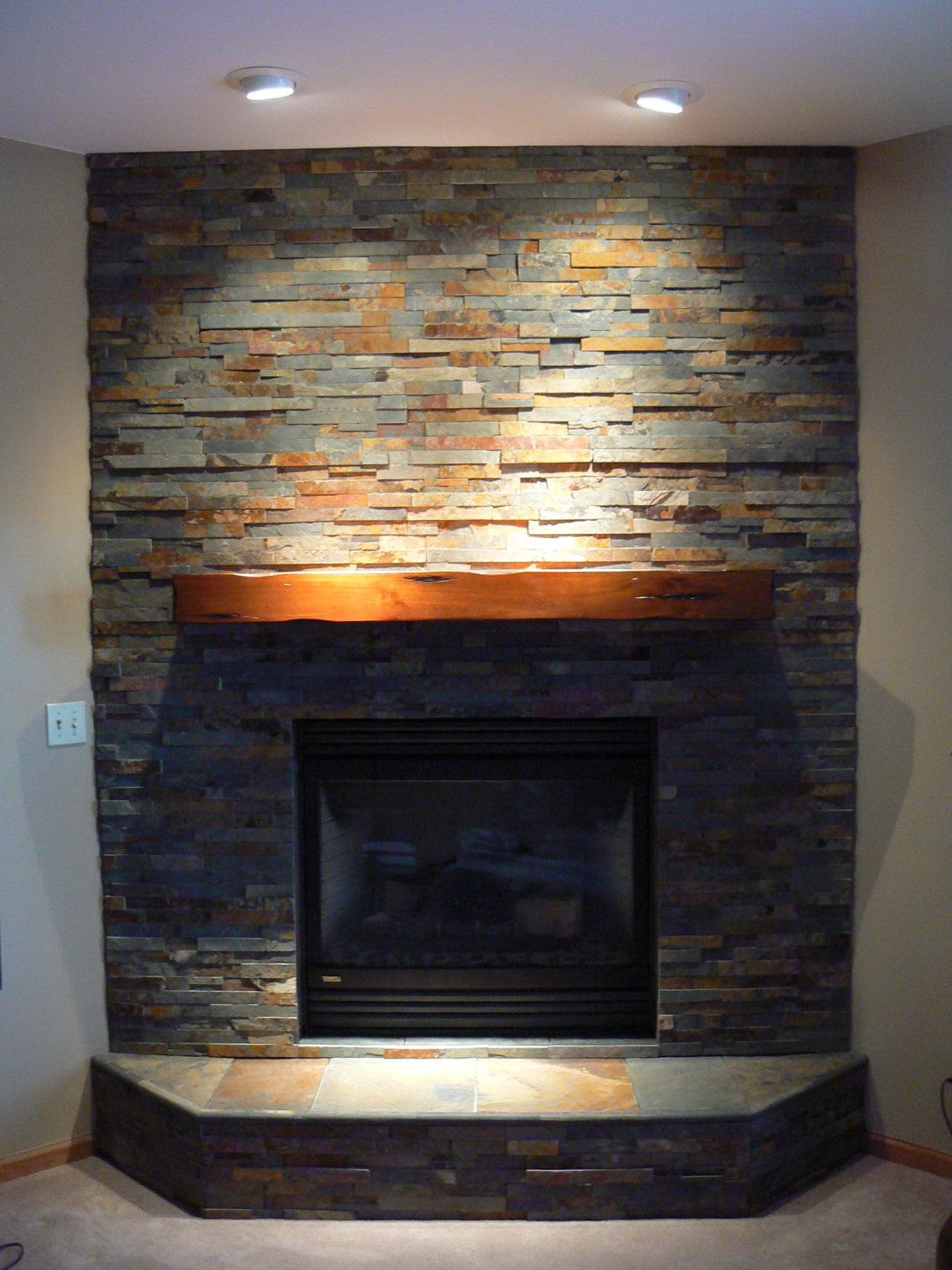 Fireplace Hearth Stone Slate Home Design Ideas