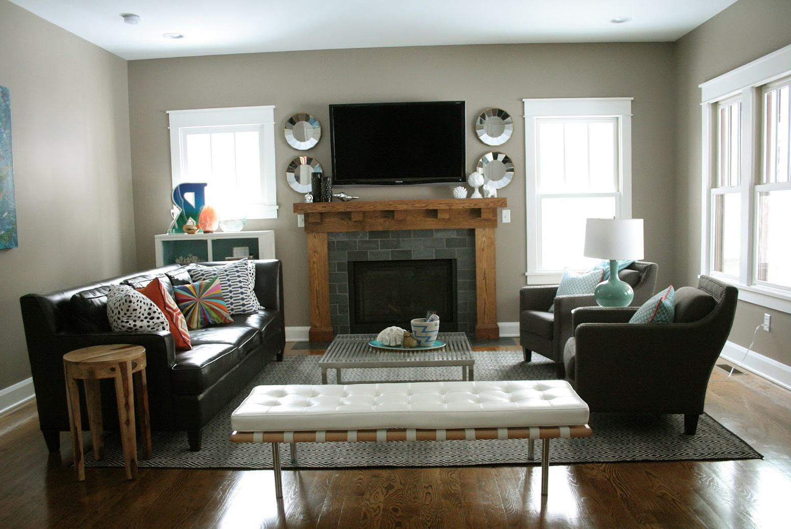 Living Room Fireplace Layout