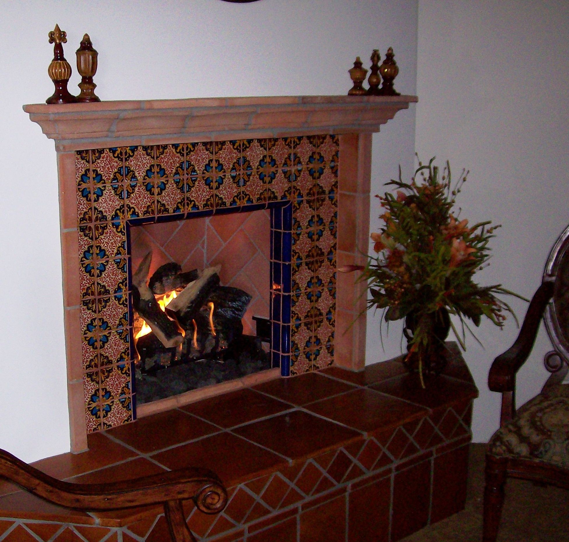 Mexican Tile Fireplace Designs Home Design Ideas