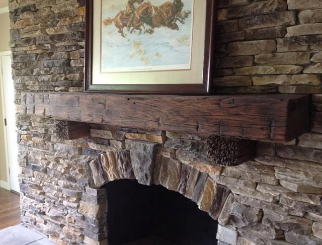 Reclaimed Barn Wood Fireplace Mantels Home Design Ideas