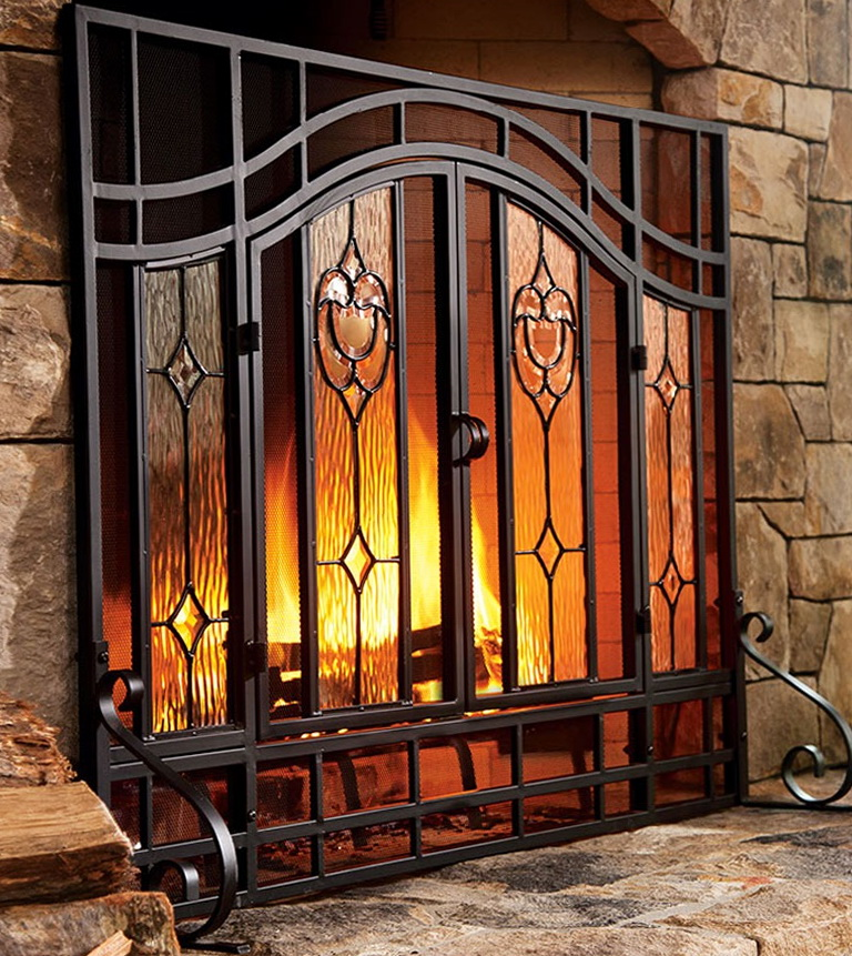 Outdoor Fireplace Screens Large Home Design Ideas