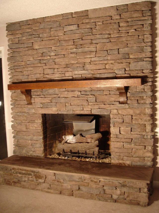 Pics Of Stacked Stone Fireplaces