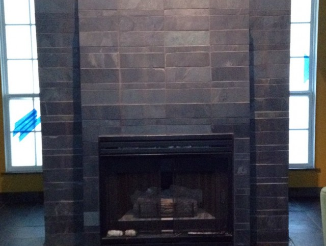 Fireplace Hearth Ideas With Tiles Slate