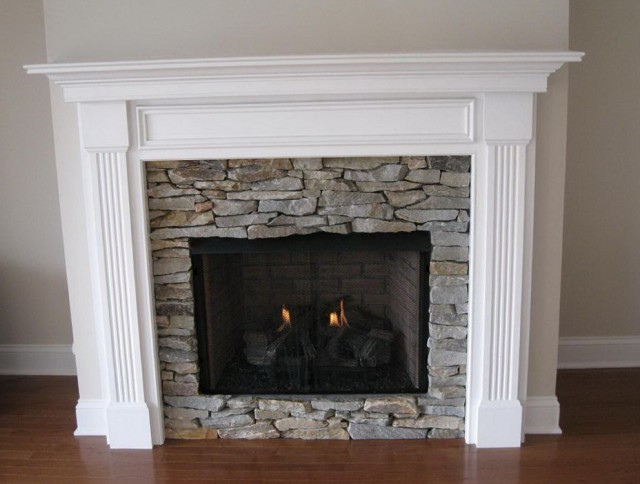 Stacked Stone Fireplace Surround Kits Home Design Ideas