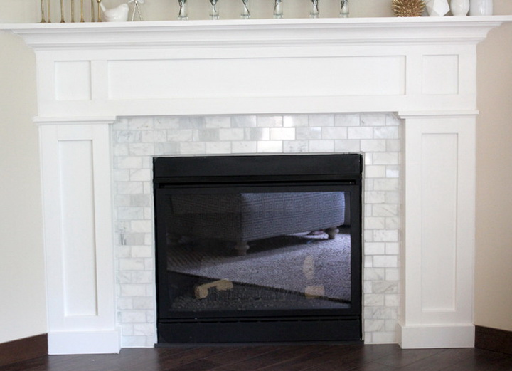 Subway Tile Fireplace Surround Home Design Ideas