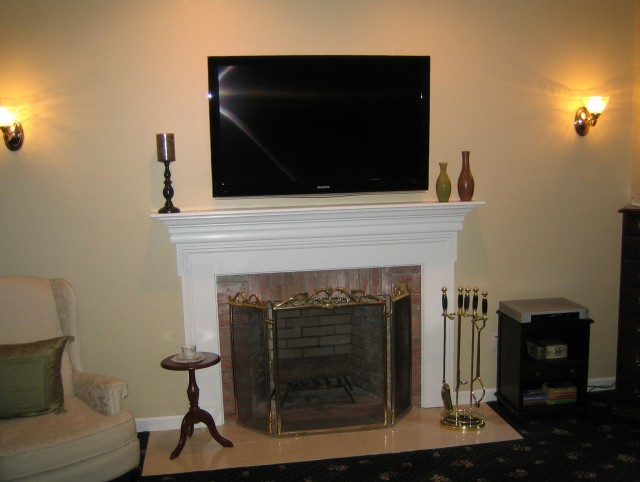 Mounting Tv Above Fireplace Cable Images Of