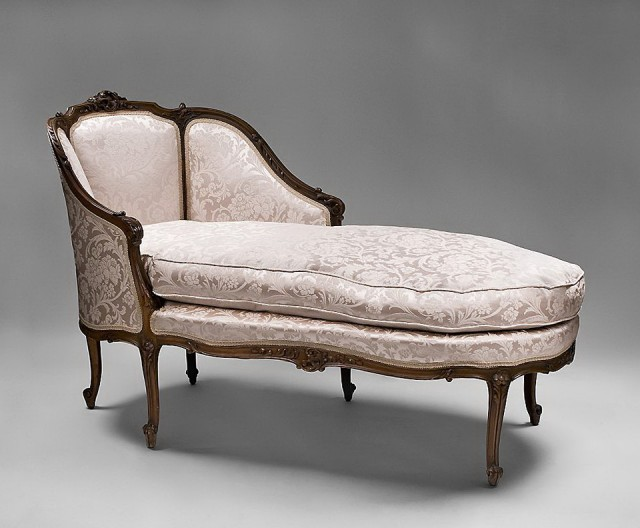 Vintage French Chaise Lounge