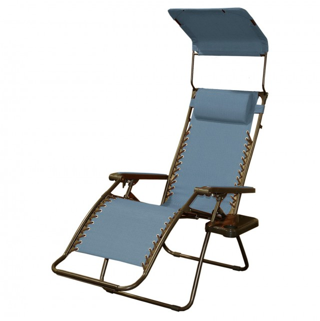 Zero Gravity Chaise Lounge With Canopy