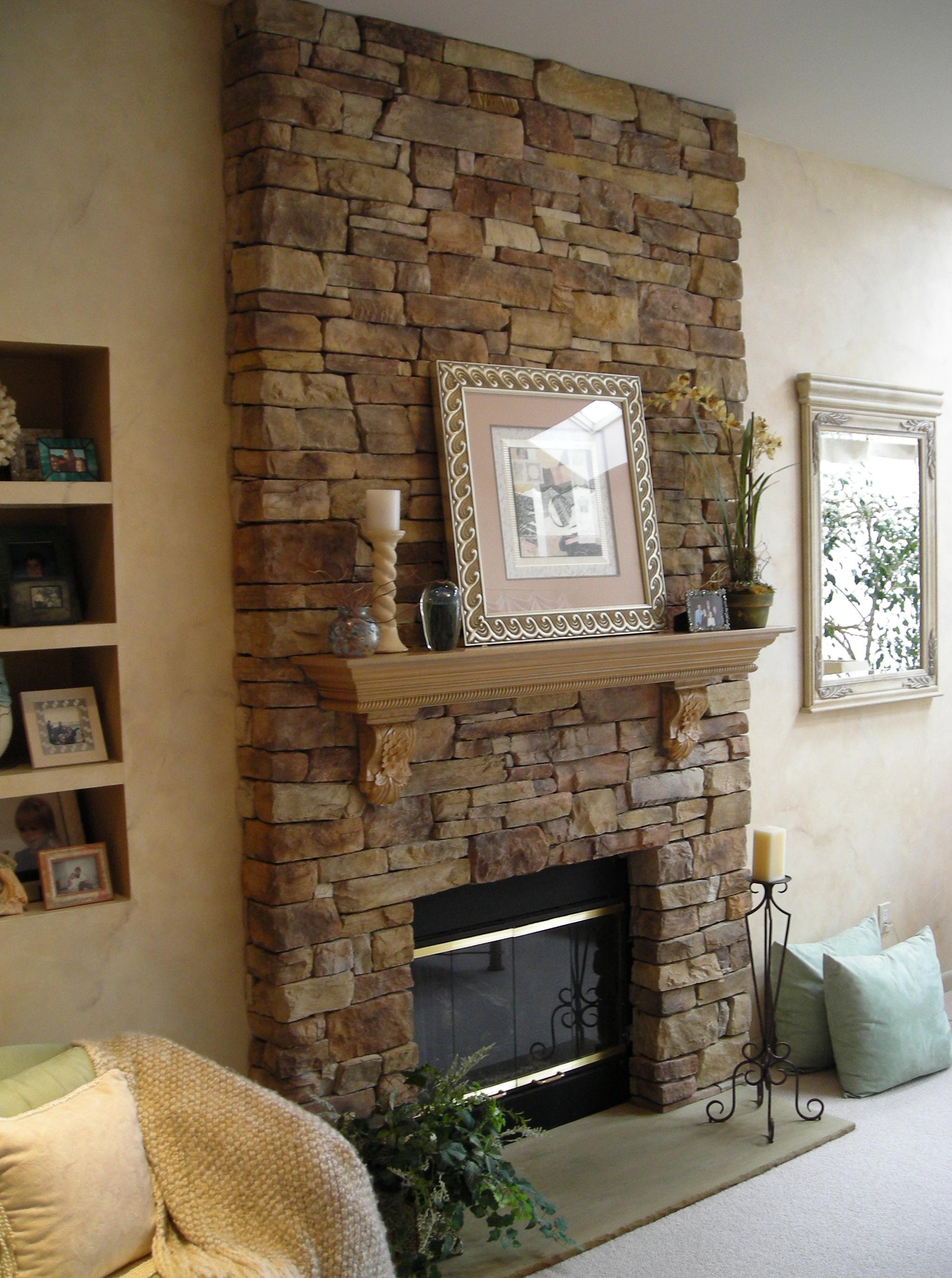 brick fireplace accent wall home design ideas