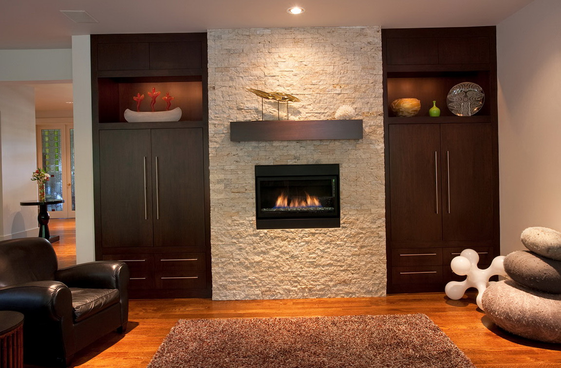 Brick Fireplace In Bedroom