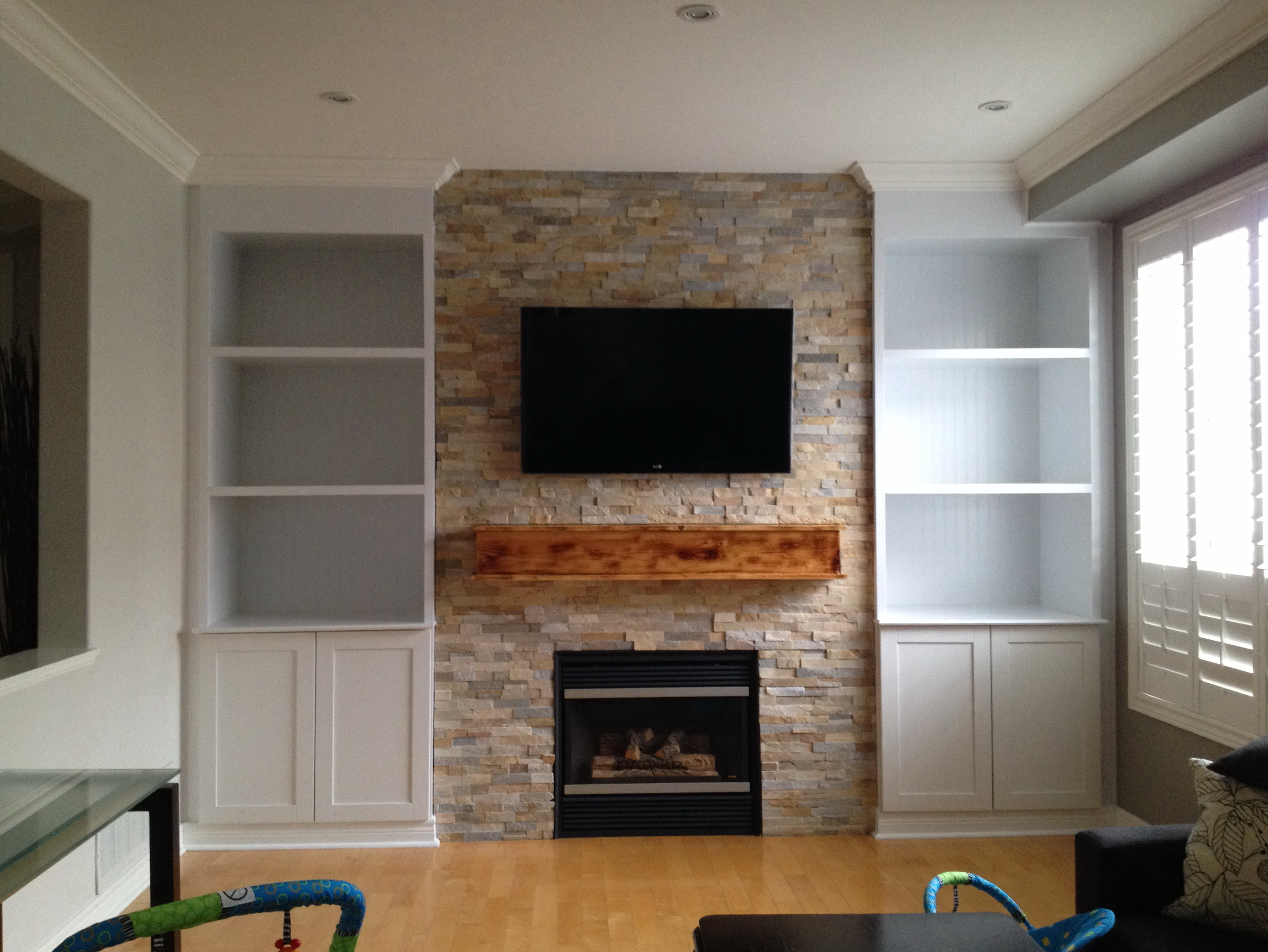 moved collections stand to small fireplace built around wall tv and units gas electric page it ideas the natural corner best of in
