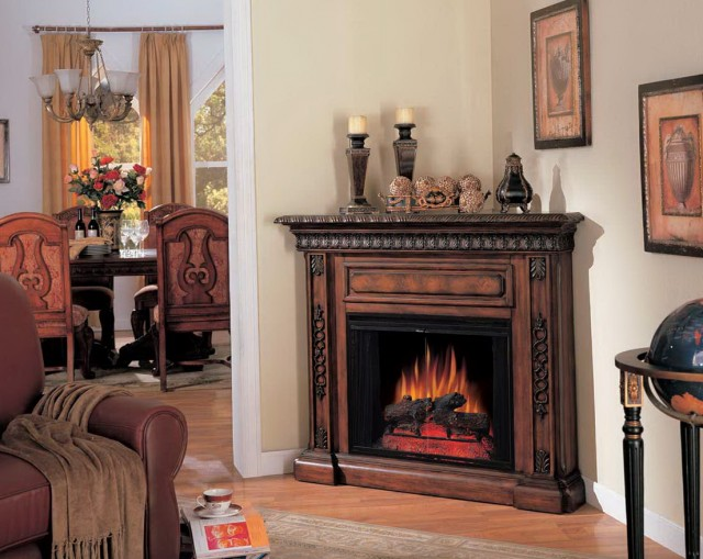 Corner Unit Fireplace Mantels