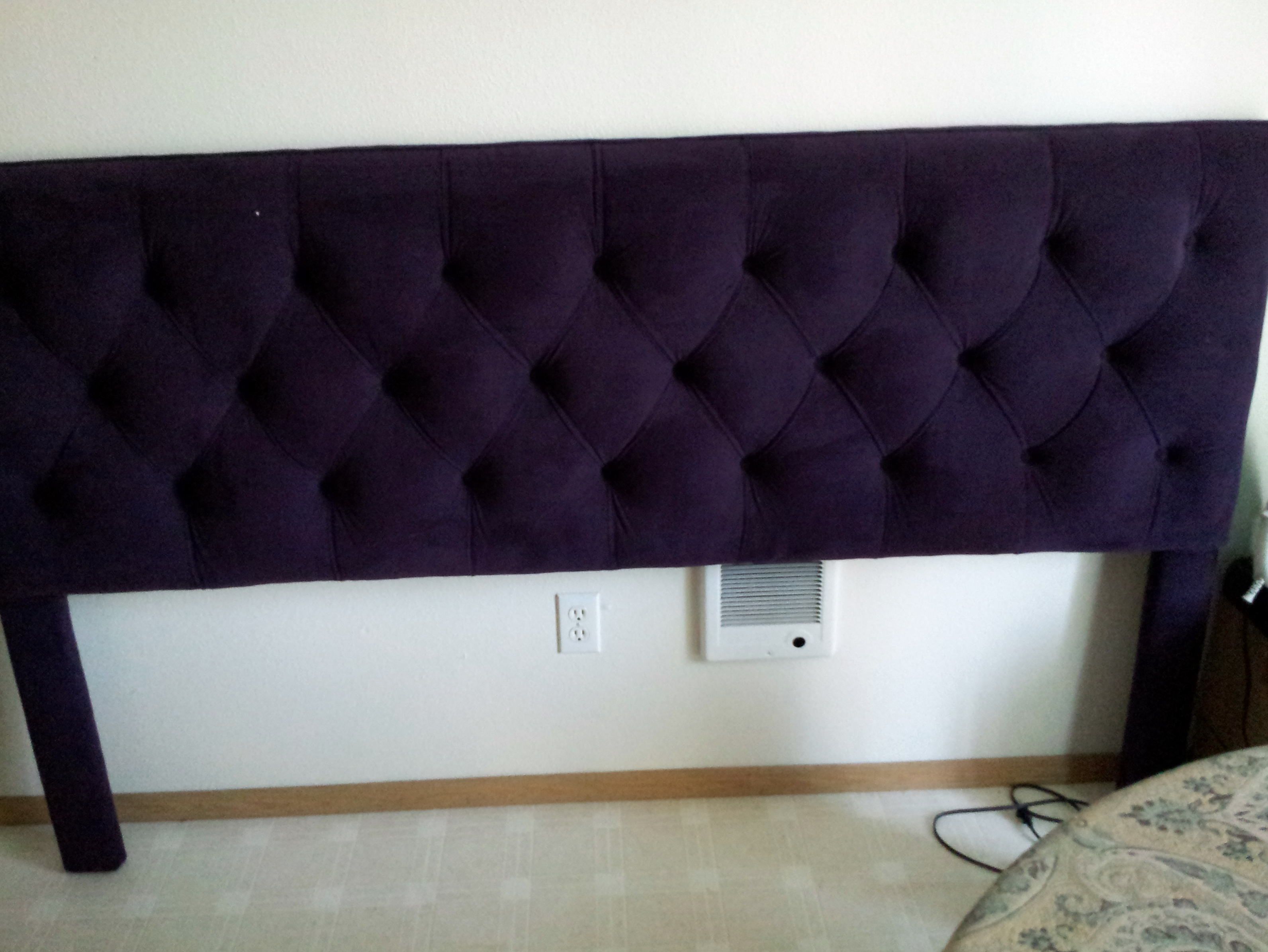 size bed full wing queen tufted upholstered king headboard twin back purple