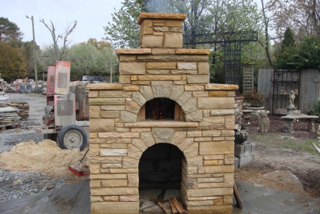 Outdoor Fireplace Kit Compact Stone Outdoor Fireplace Kit Outdoor Fireplaces Backyard Oven Kit