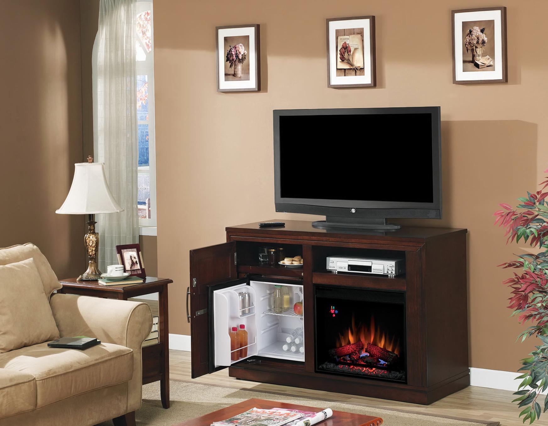 Electric Fireplace With Mini Fridge | Home Design Ideas