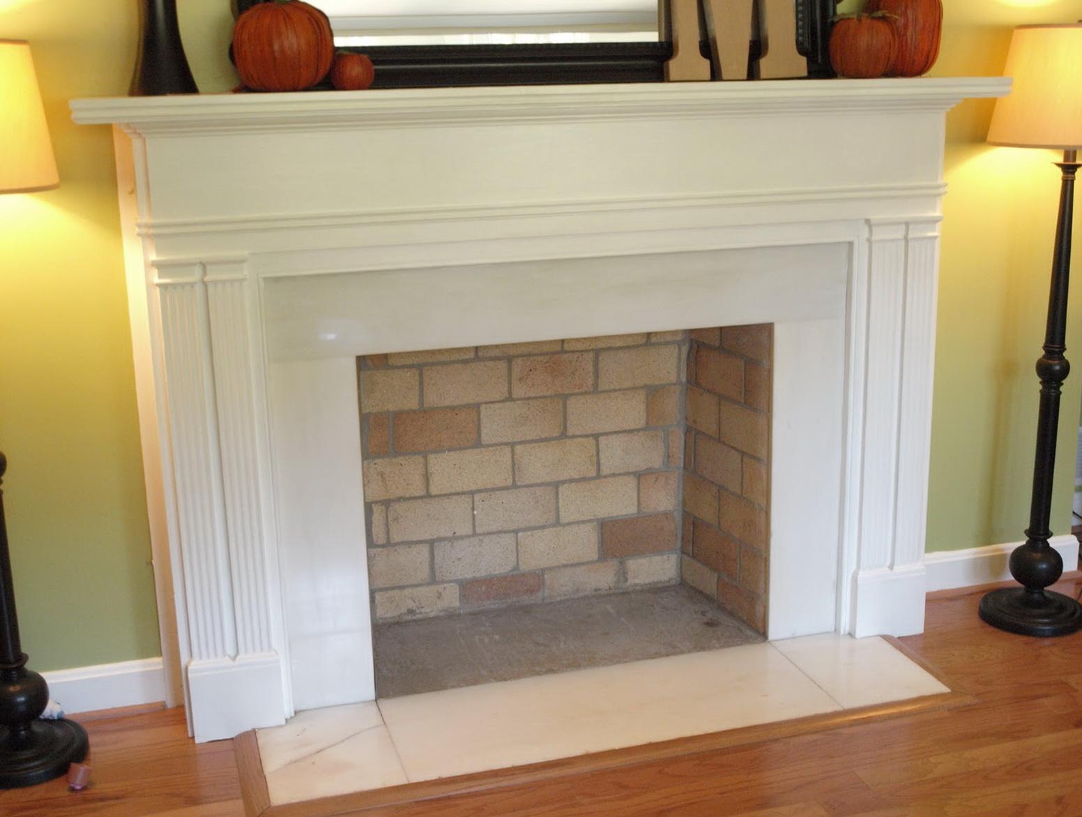 Diy Fake Fireplace Mantel | Home Design Ideas