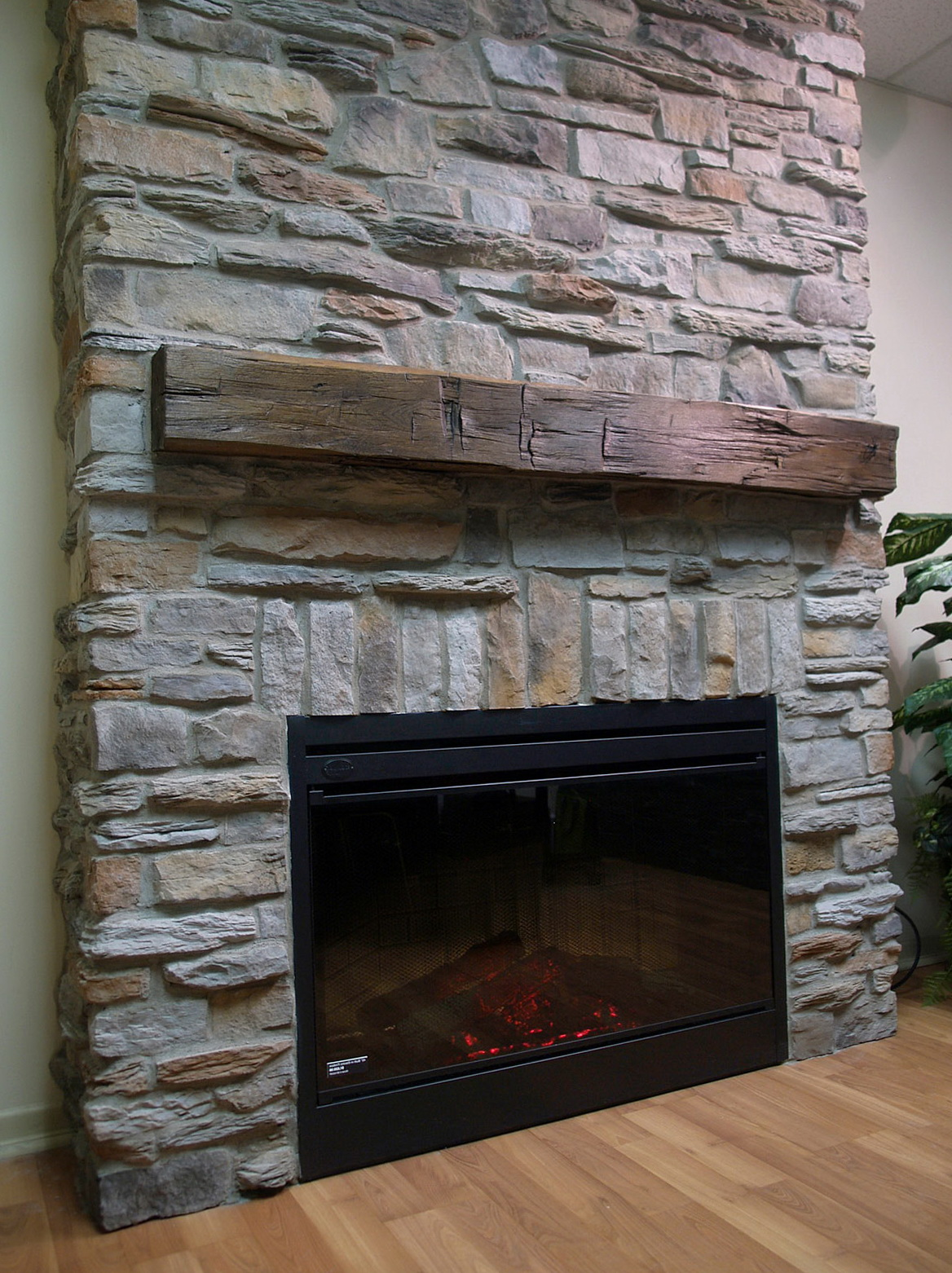 Fake Stone Fireplace Wall Home Design Ideas