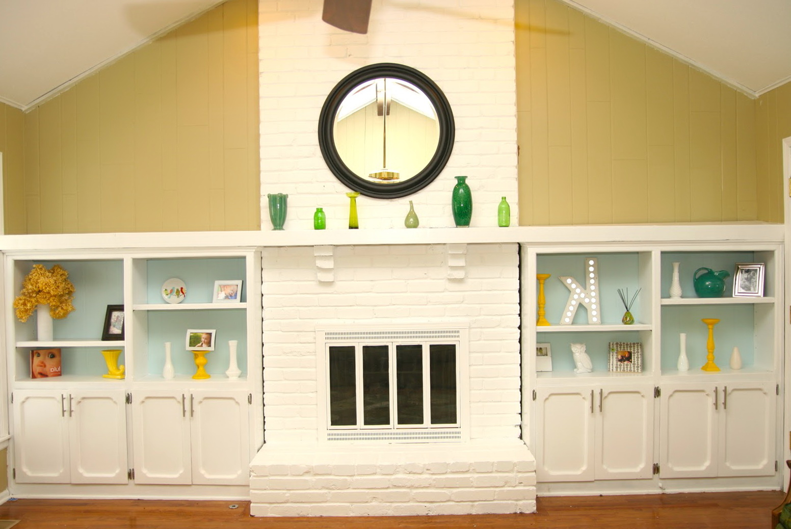 Fireplace Brick Painted White | Home Design Ideas