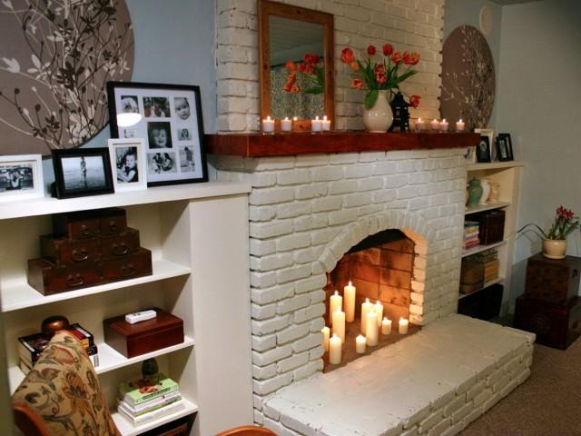 Fireplace Brick Painting Ideas