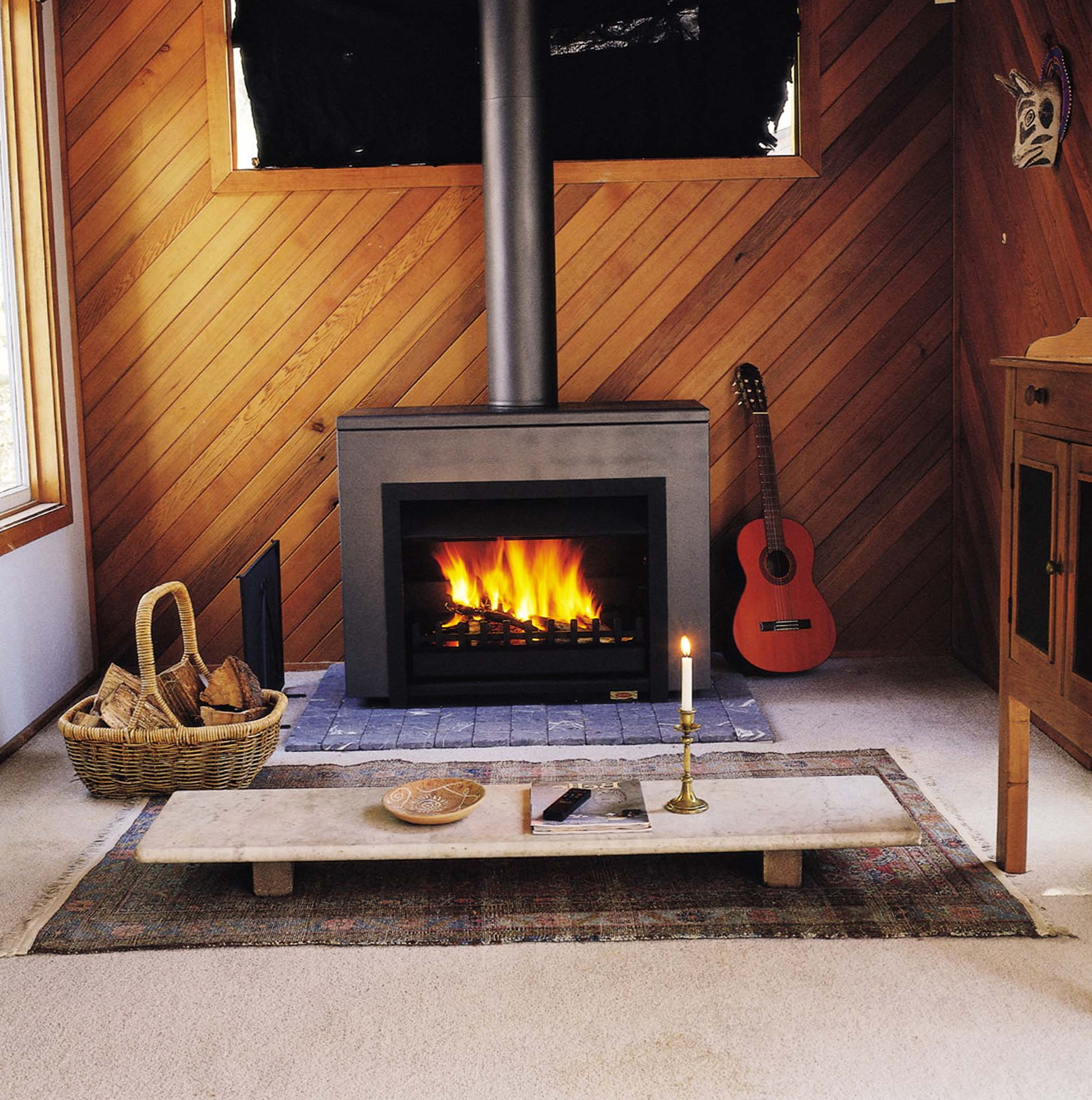 Free Standing Wood Burning Fireplace Installation Home