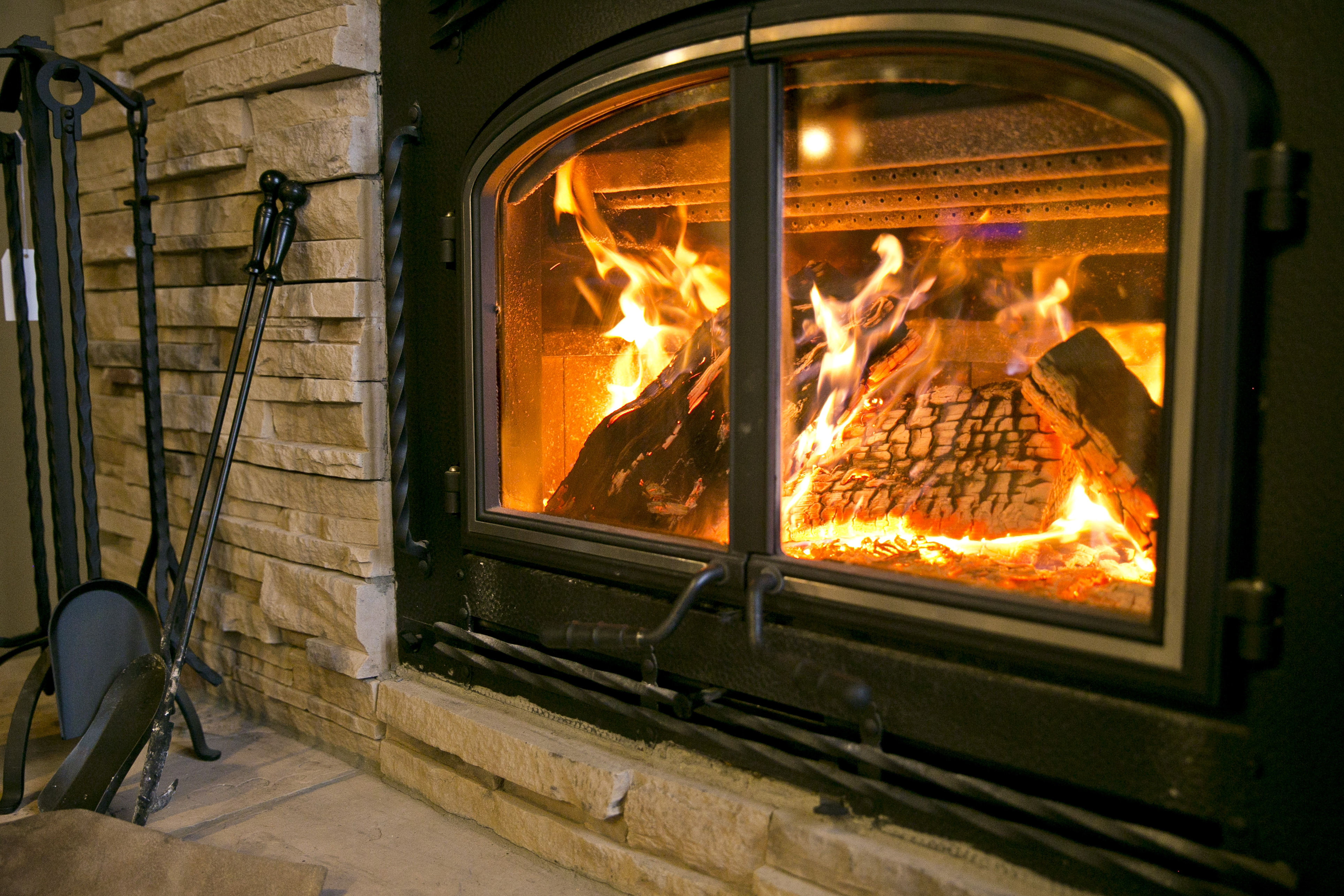 Gas And Wood Fireplace Combo Home Design Ideas