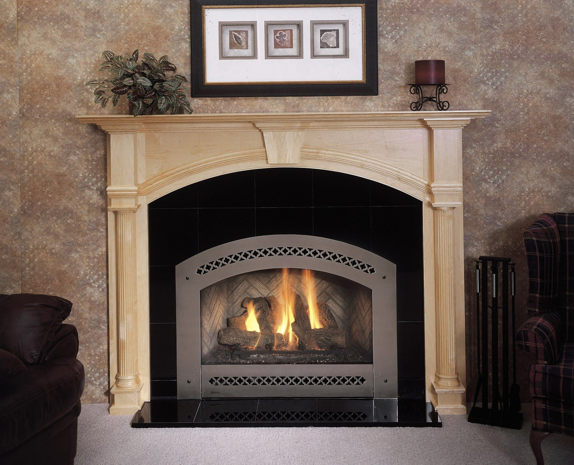 fireplace insert gas north valve products shore pro kingsman