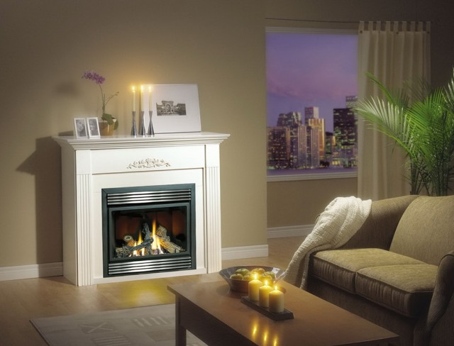 Gas Fireplace Vent Clearance Window