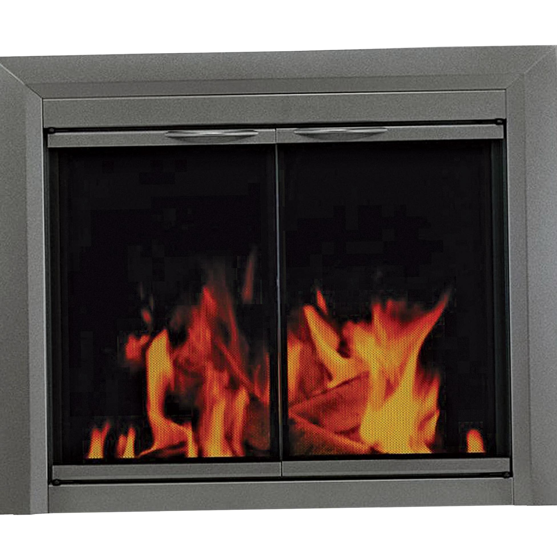 glass for fireplace door home design ideas