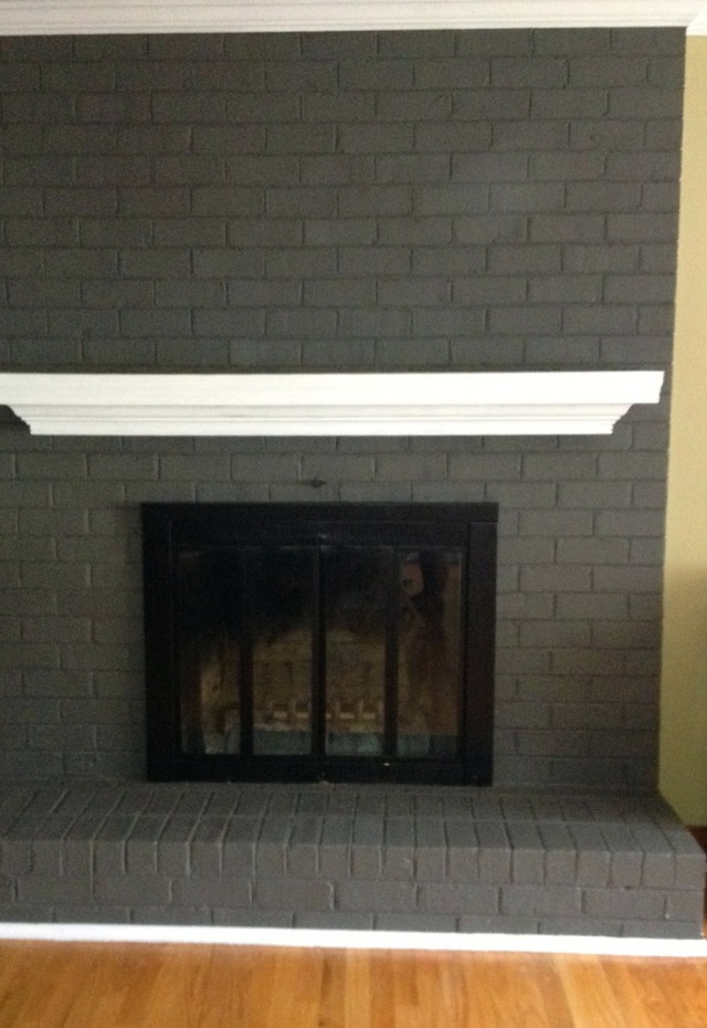 painting a fireplace gray home design ideas