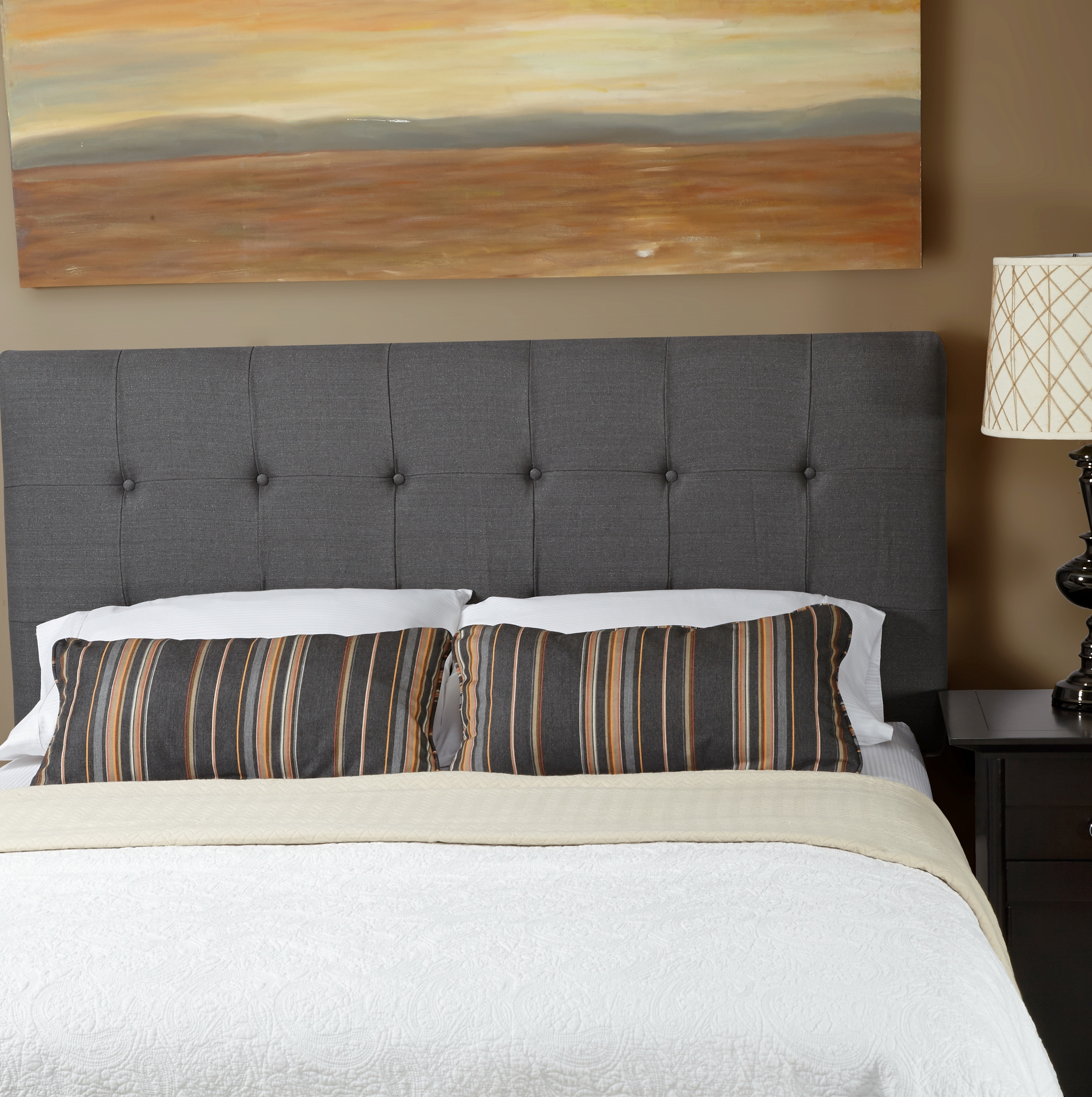 gray upholstered headboard full home design ideas