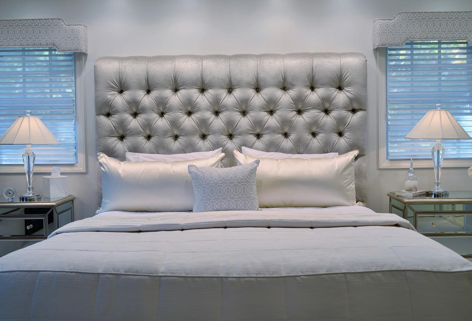 Grey Velvet Tufted Headboard Home Design Ideas