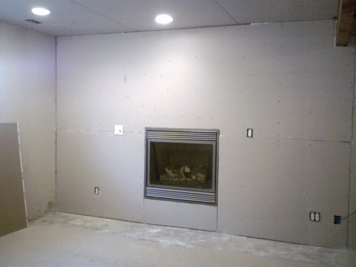 installing a gas fireplace on an interior wall home design ideas