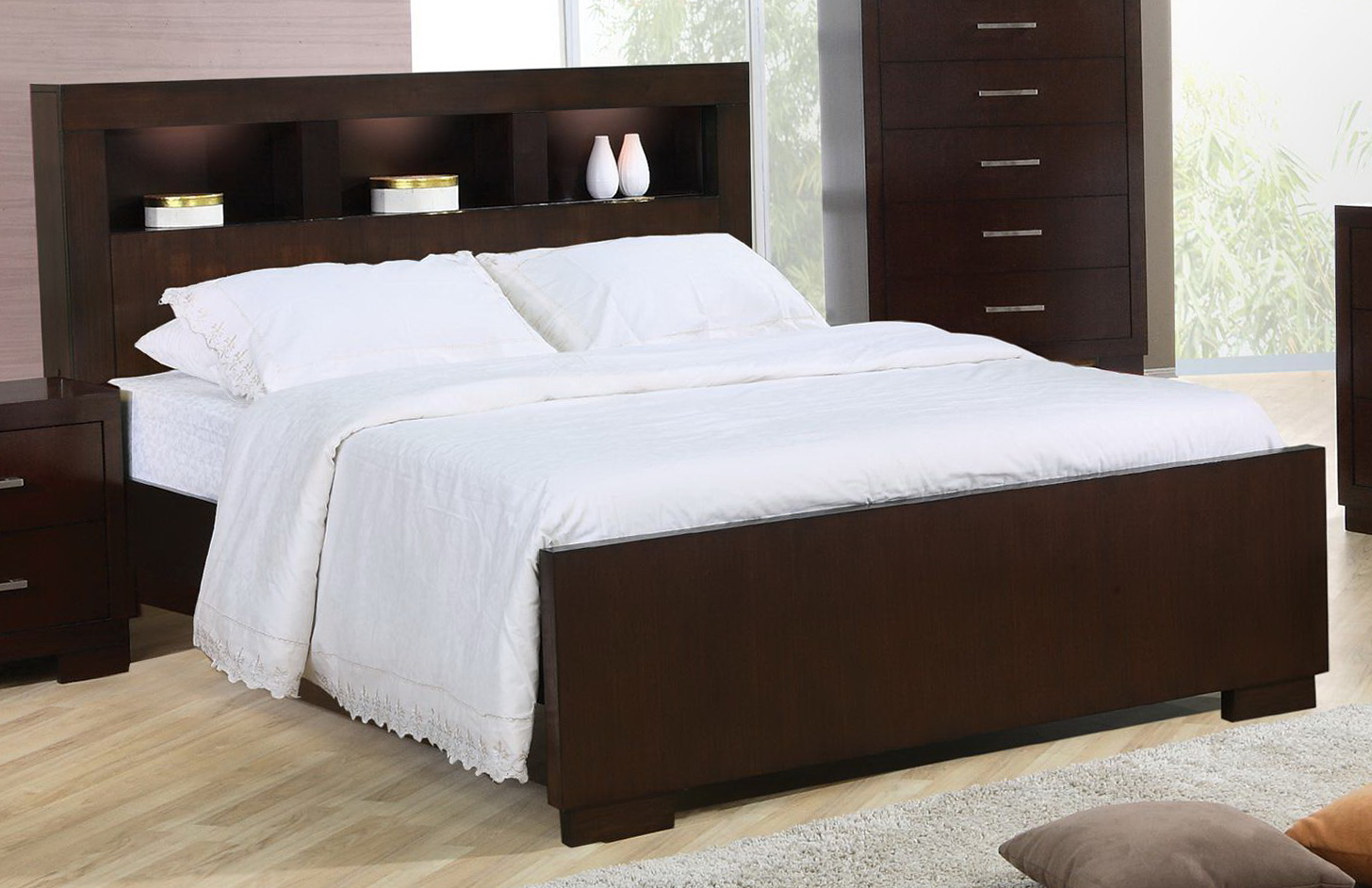 King Headboard With Storage Compartment