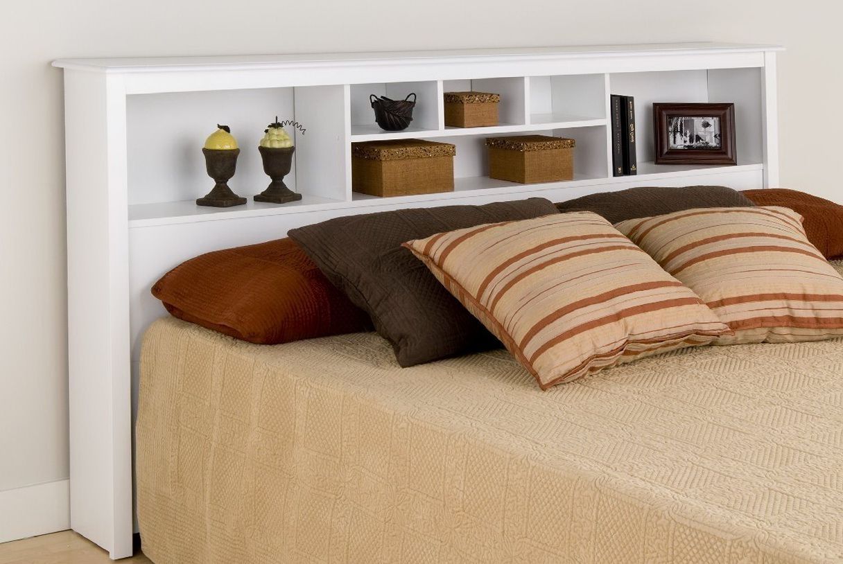 King Size Bed With Bookcase Headboard Home Design Ideas