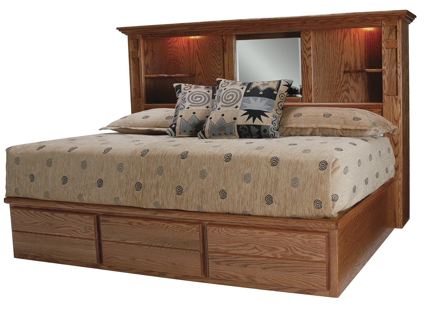 King Size Bookcase Headboard With Mirror Home Design Ideas