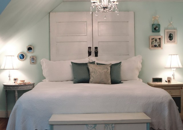 Make Your Own Headboard From A Door
