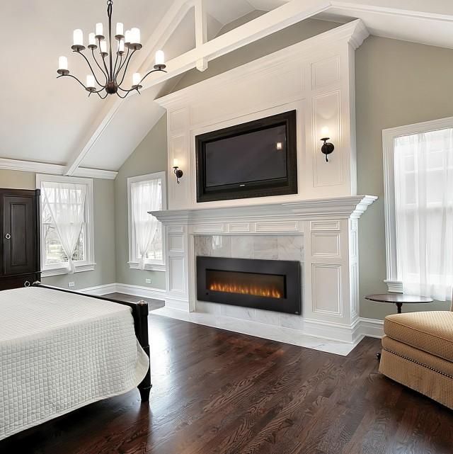Modern Fireplace In Bedroom