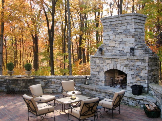 outdoor fireplace and patio ideas - Patio Ideas With Fireplace