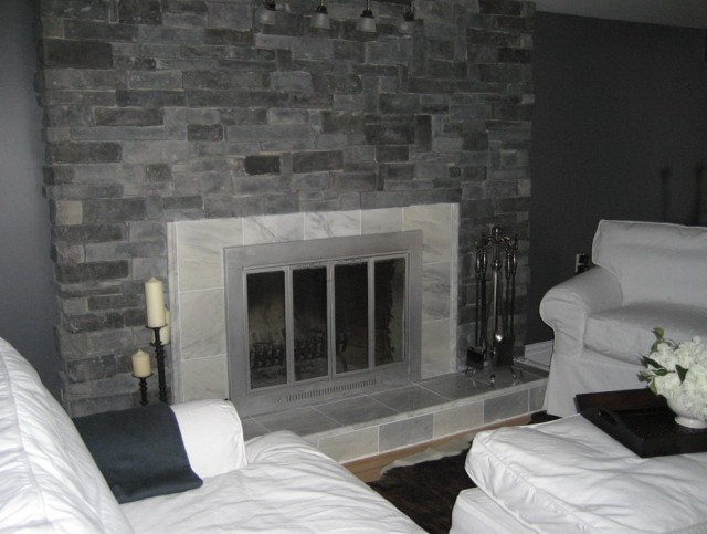 Painting A Fireplace Gray